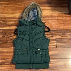 Mossimo green puffer vest jacket size Small S